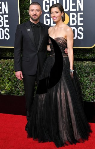 Mandatory Credit: Photo by Rob Latour/Shutterstock (9307694eg) Justin Timberlake and Jessica Biel 75th Annual Golden Globe Awards, Arrivals, Los Angeles, USA - 07 Jan 2018